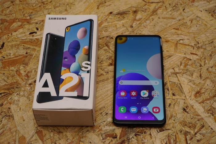 Samsung A21S mobiltelefon